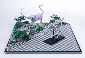 Jurassic Brick - Struthiomimus Diorama by JanetVanD