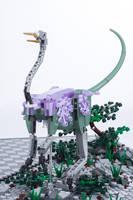 Jurassic Brick - Struthiomomus Inset by JanetVanD