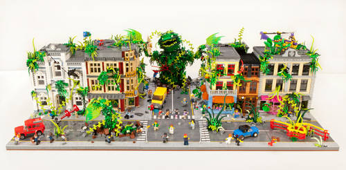 Plant Monster Invasion - Front View by JanetVanD