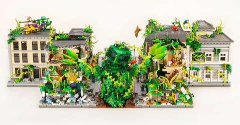Plant Monster Invasion - Rear View by JanetVanD