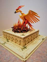 Phoenix at Sunrise: the nest ignites by JanetVanD