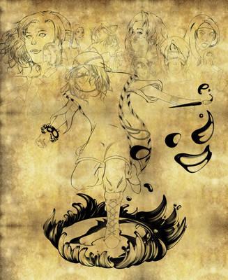 Wandering artist/Sketch Dump by Dark-Aires