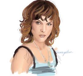 Speedpaint Milla Jovovich by Somapha