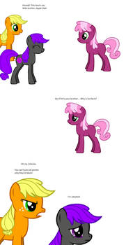 Applejack pwns Cheerilee and defends her brother