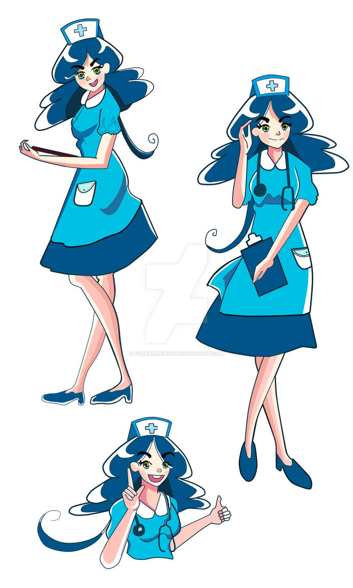 .:Nurse Mascot For A Certain Company:. by Fuerarufians