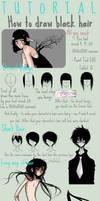 Black hair Tutorial - Paint Tool SAI