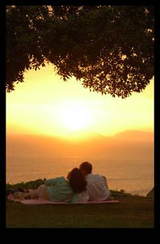 . : . sunset and wine . : .