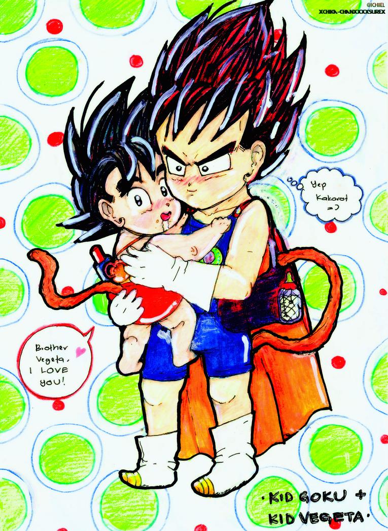 Kid Goku And Kid Vegeta Kid Goku + Kid Vegeta ...