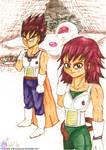 Teen Vegeta and Teen Articha