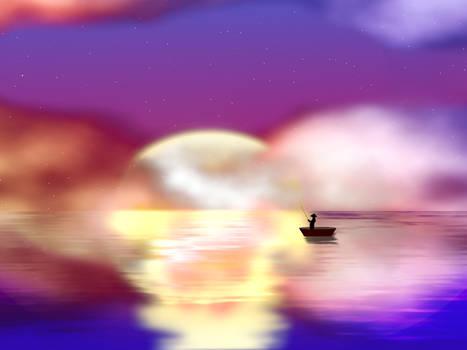 Sunset001 - Fisherman