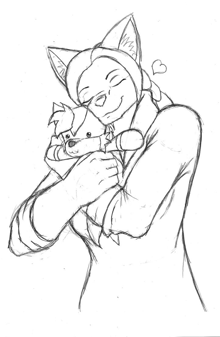 Cassie Hayabusa Hugs Her Dreamboat by OrochiPhoenix19
