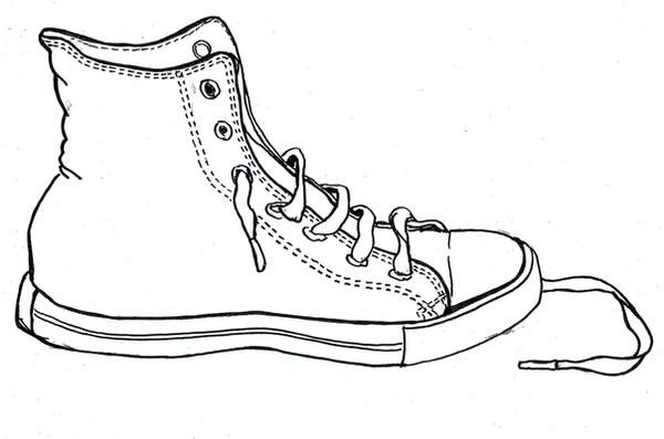 Converse Shoe Drawings Converse template by