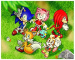 Sonic And Friends Hanging Together