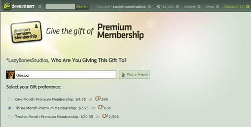 Premium Account Rates by LazyBonesStudios