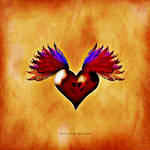 FLYING HEART SKULL 025 by LazyBonesStudios