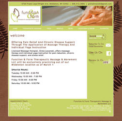 Function and Form Therapeutic Massage website