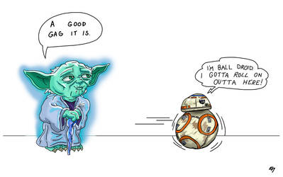 Yoda and Ball Droid (Sketch_Dailies)