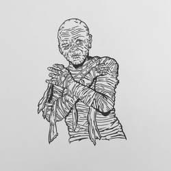 Inktober 2016, Day 7 - The Mummy
