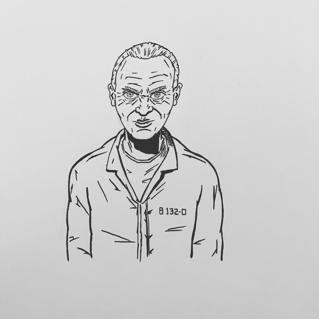 Inktober 2016, Day 8 - Hannibal Lecter by EricAndersonCreative