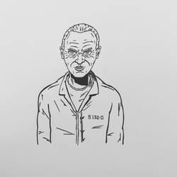Inktober 2016, Day 8 - Hannibal Lecter