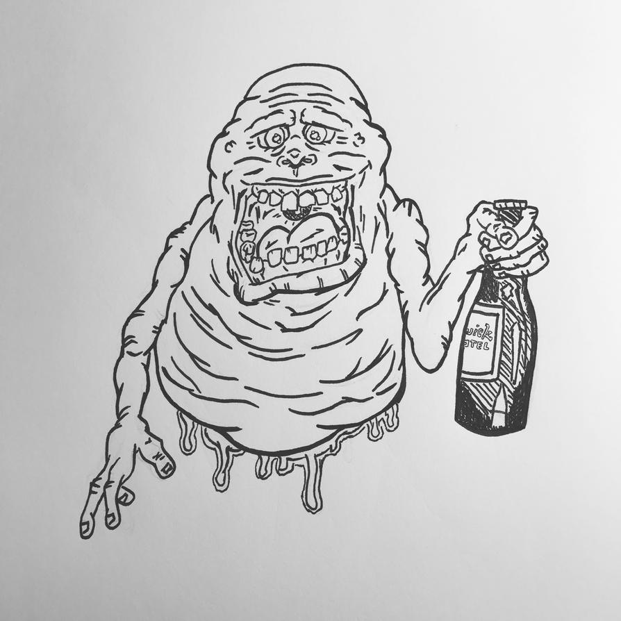 Inktober 2016, Day 10 - Slimer by EricAndersonCreative