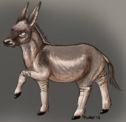 8-13-18: Little donkey boi by Bimisi