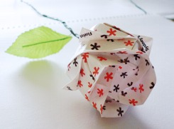 Another.. Origami rose by bb2k1001