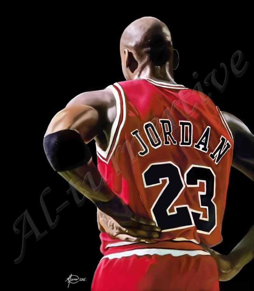 Michael Jordan - Commissioned portrait by al-turnertive