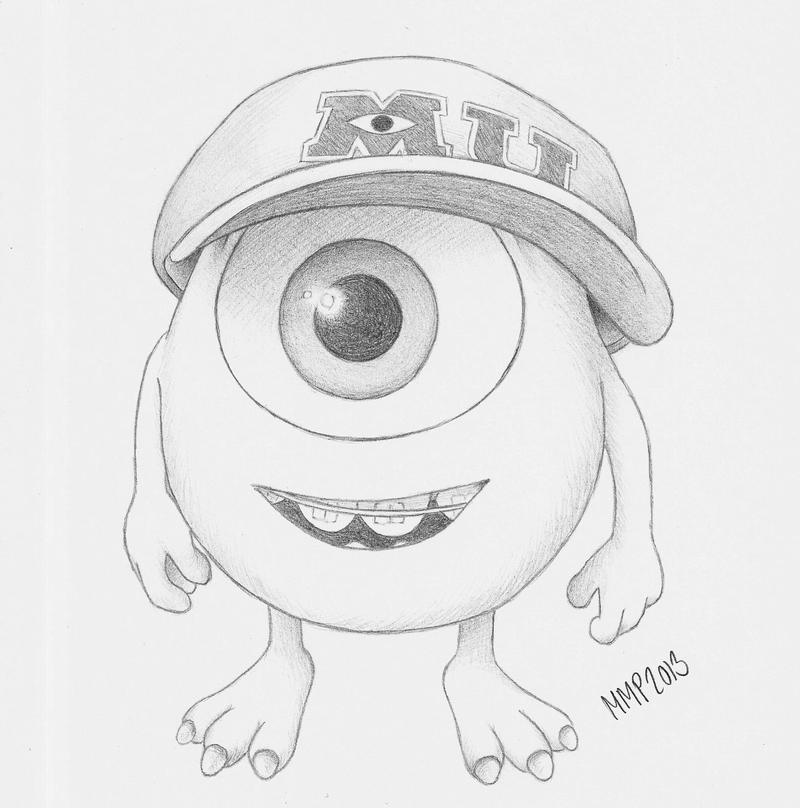 Mike wazowski drawing tumblr