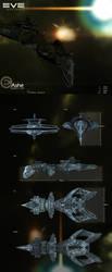 Caldari Battlecruiser: Ashe by Warl