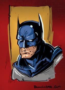 DC Comic's Batman Colored Quick Sketch