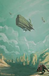 Science Fiction Fantasy Concept Space Ship Creatur