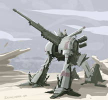 Military Mech Cannon