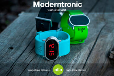 Moderntronic - touch screen watch by aiia by aiia-promo-products