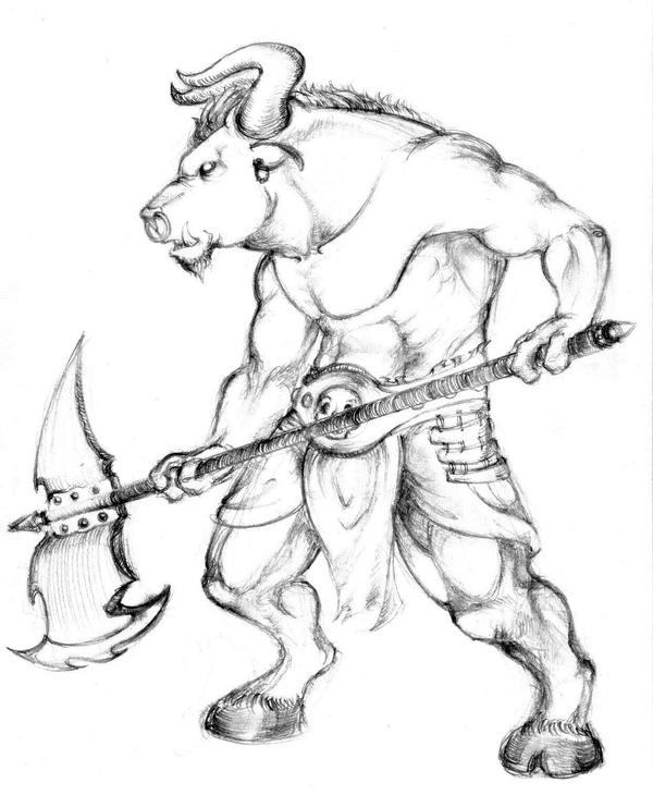 minotaur coloring pages - joker drawings coloring pages