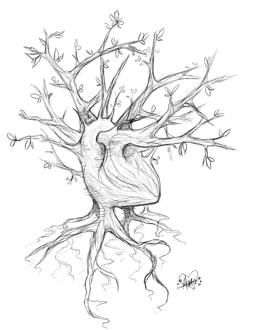 Heart tree by Embersign
