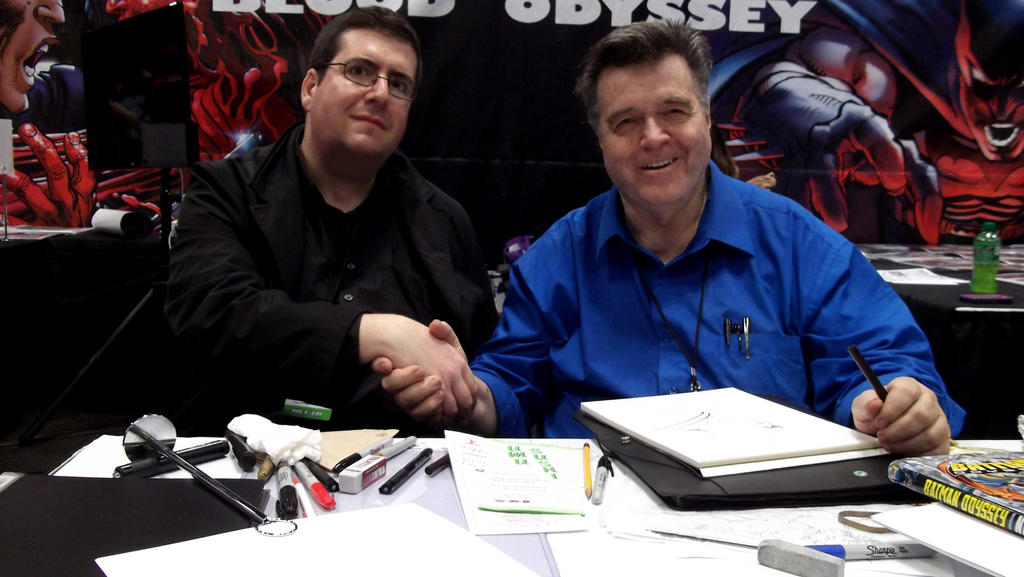 with Neal Adams by simon-artist
