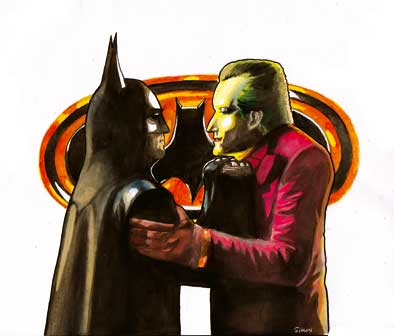 Batman and Joker by simon-artist
