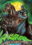Batman on horse painting by simon-artist