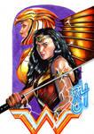 Wonder-woman-84 colored pencil illustration