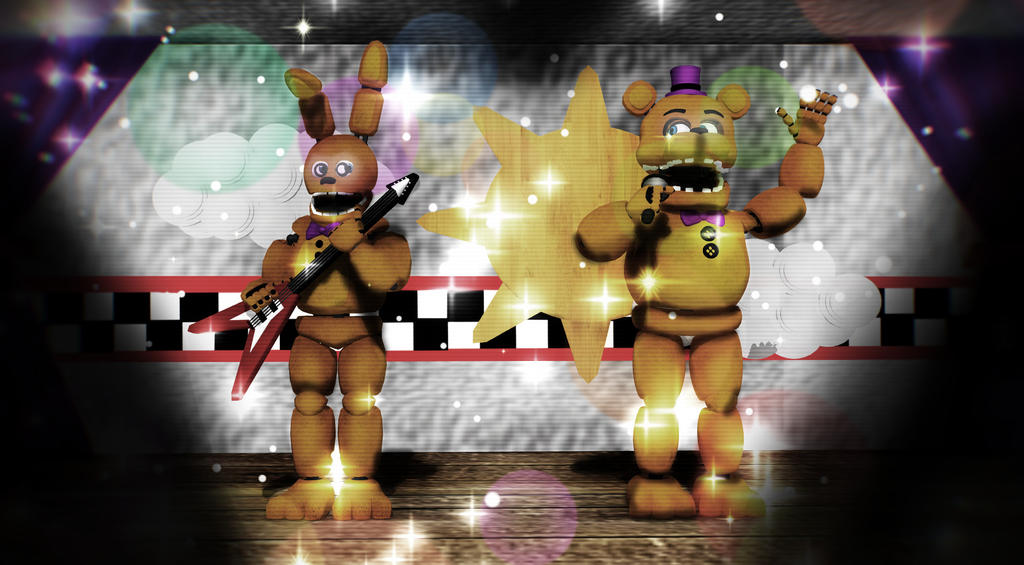 MMD Fnaf + Speed Edit The Removed Golden Model by Y-MMDere