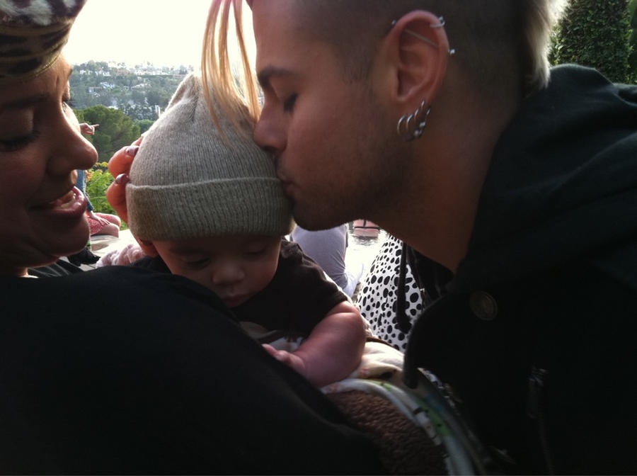 Adam Lambert And Tommy Joe Ratliff 2013 Tommy Joe Ratliff Baby Kiss by