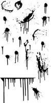 splatter brushes, flat file