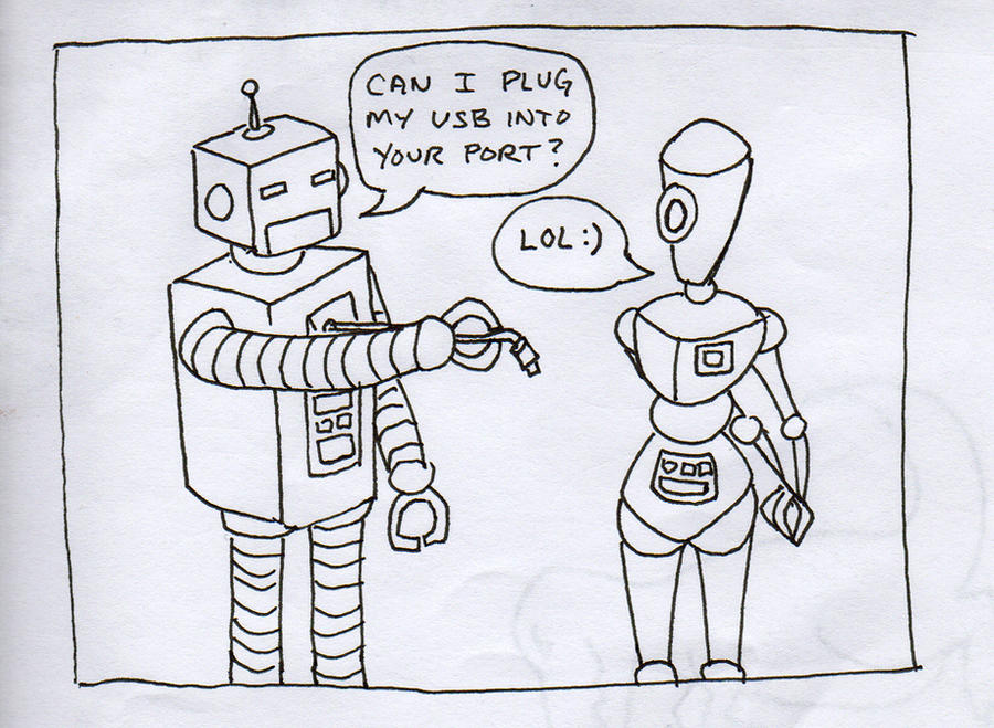 Robot Sex joke by MC Comics Robot Sex joke by ~MC Comics on deviantART