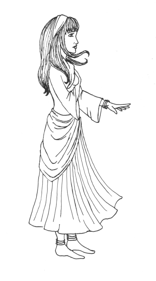 gypsy coloring pages | Gypsy Coloring Pages Sketch Coloring Page