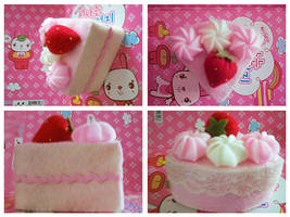 STRAWBERRY FELT CAKE by Shiroyi