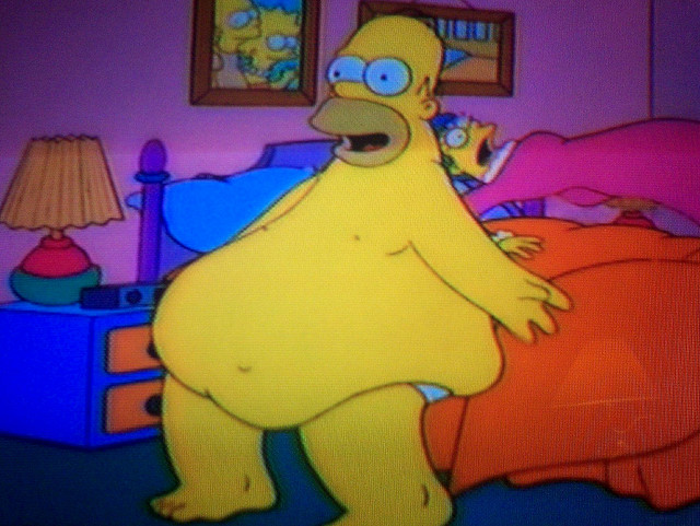 Weight Gain Belly Gif Homer's belly from king size