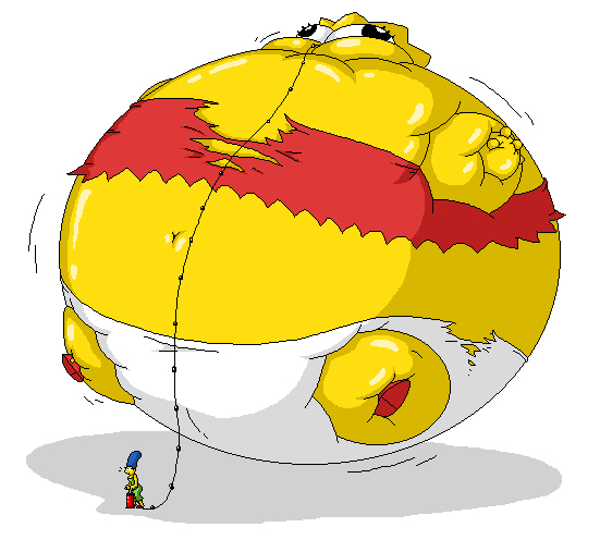 Marge making a thanksgiving balloon out of Lisa by Pervertix