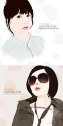 Female illustrator by wongicon