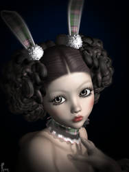 Portrait of a Lolita Bunny by AreeElf